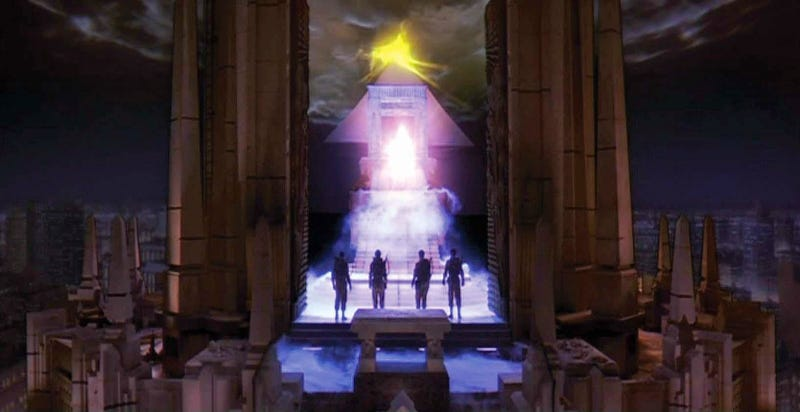 Illustration for article titled The OriginalGhostbusters Go to Hell in This Long-Lost Concept Art