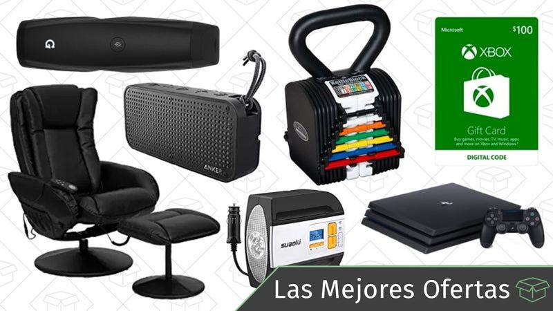 Illustration for article titled Las mejores ofertas: Altavoces Bluetooth, sillones reclinables, sets de pesas y más