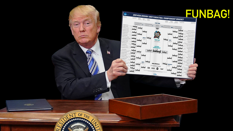 Illustration for article titled Let's Pick Trump's Final Four For Him
