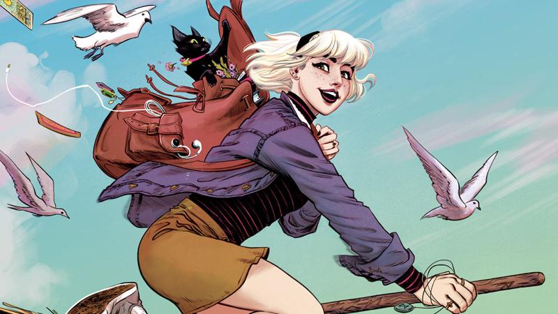 Sabrina flies high in her latest comic book.