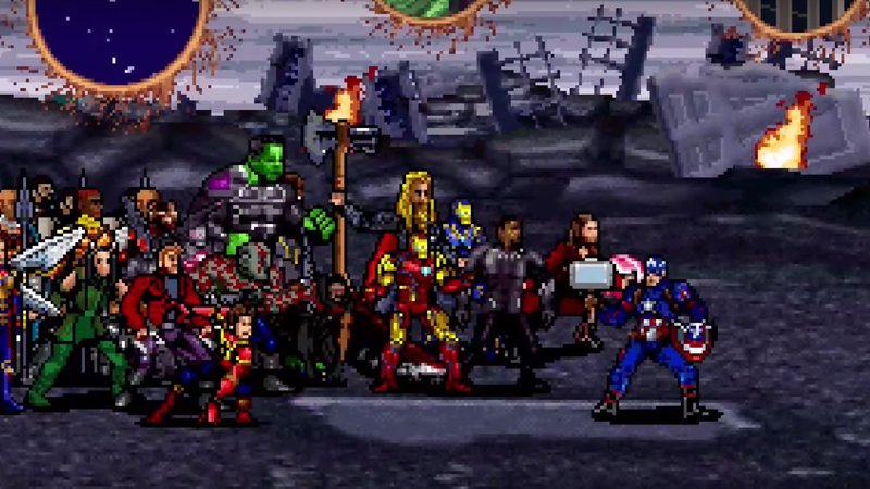 Avengers: Endgame's Final Battle Gets a Glorious 16-Bit Recreation