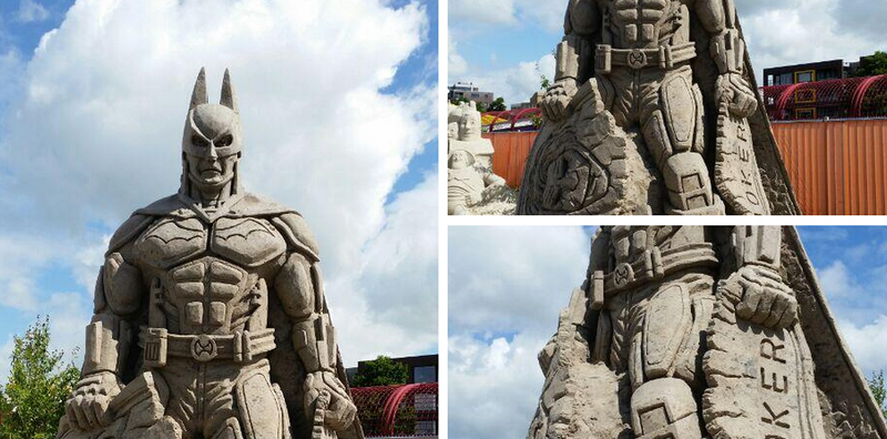 Illustration for article titled Batman Sand Sculpture