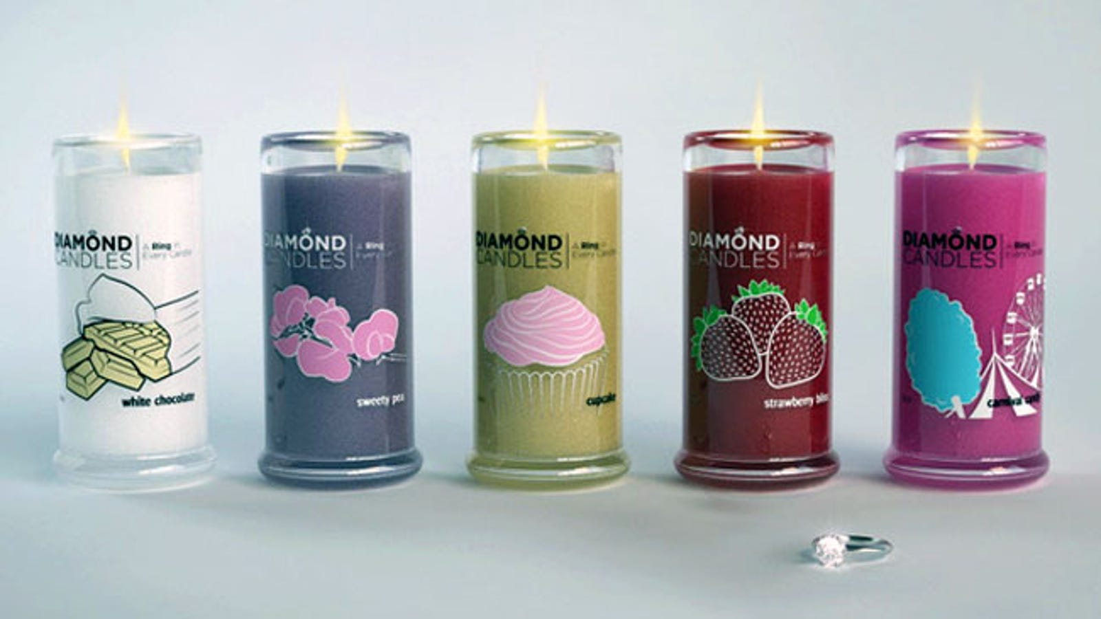Hidden treasure candles prizes for baby