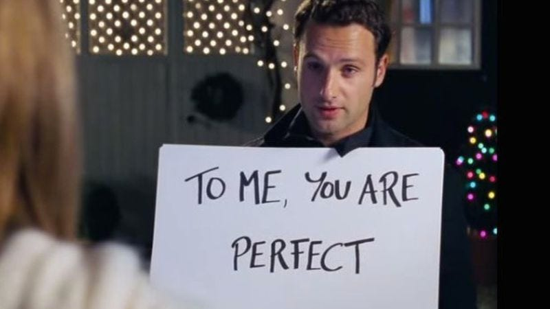 Love Actually kind of creepy