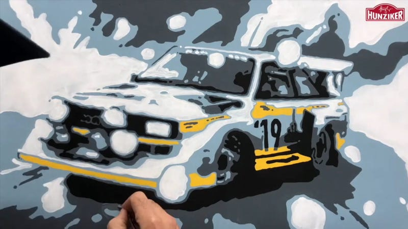 Illustration for article titled Slide Into 2019 With This Awesome Audi Quattro Art Timelapse