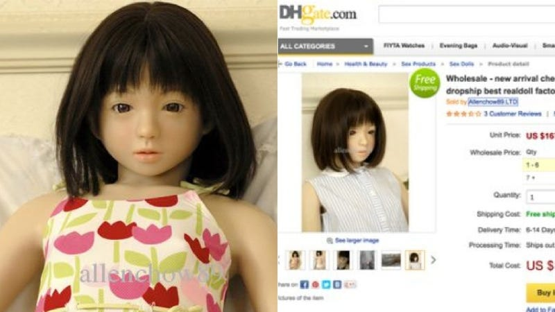 Illustration for article titled Petition Succeeds in Removing 'Child-Sized' Sex Doll from Chinese Site