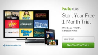 Illustration for article titled Get a One Month Free Trial for Hulu Plus This Month