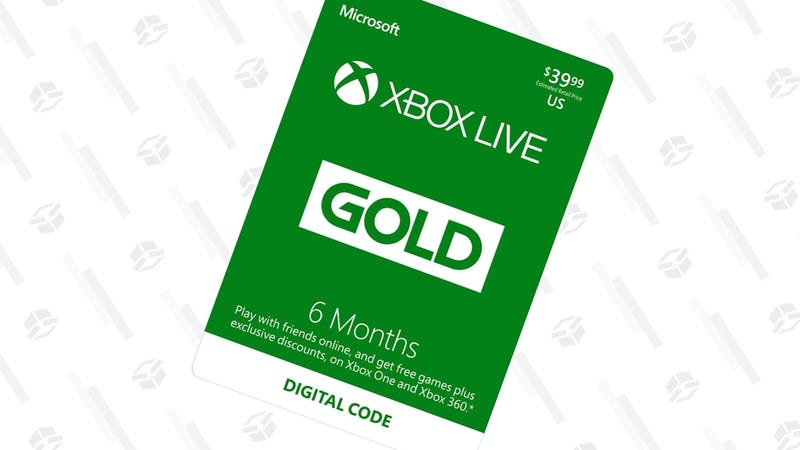 Xbox Live Gold 6 Month Membership | $20 | Amazon