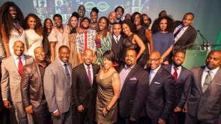 The Root 100 2014 honorees celebrating at the gala in New York City Nov. 6, 2014 Derrick Davis