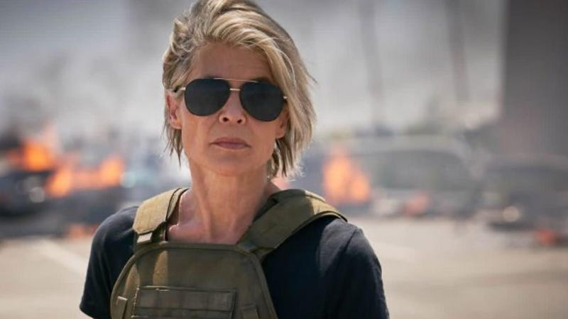 Sarah Connor (Linda Hamilton) is so over all these damn Terminators.