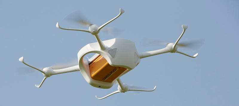 Illustration for article titled Switzerland is Testing a Drone Delivery Service for Emergency Supplies