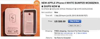 Illustration for article titled eBay Sellers Flogging iPhone 4 Bumpers for $100