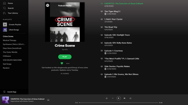 Spotify's New Podcast Playlists Will Feed Your True Crime Addiction
