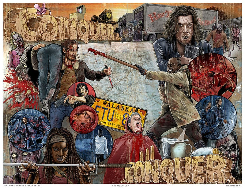 Illustration for article titled See One Artist Convert The Walking Dead TV Show Back Into Comic Form