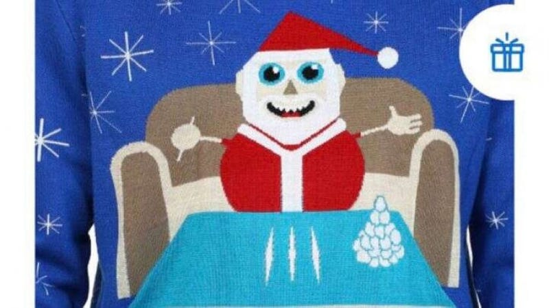 Illustration for article titled This Walmart Christmas Sweater Has Done More Cocaine Than You or Me or Anyone Else, Probably