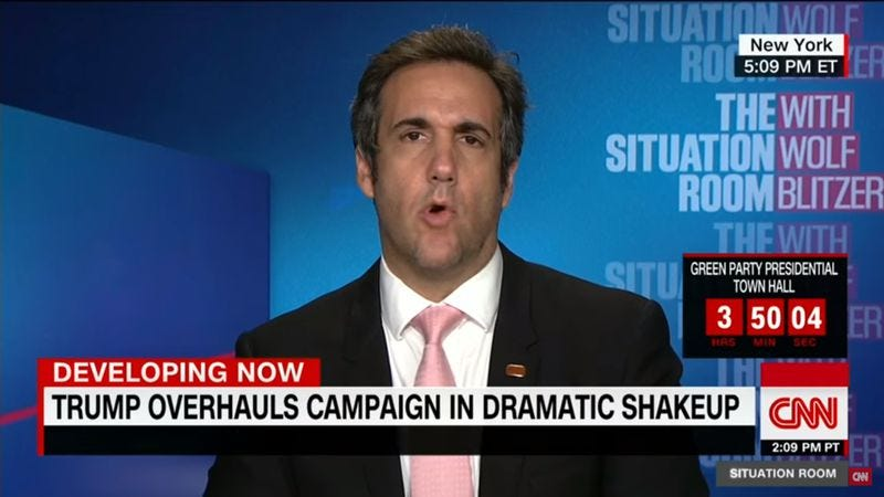 Michael Cohen on CNN's The Situation Room (Screenshot: YouTube)