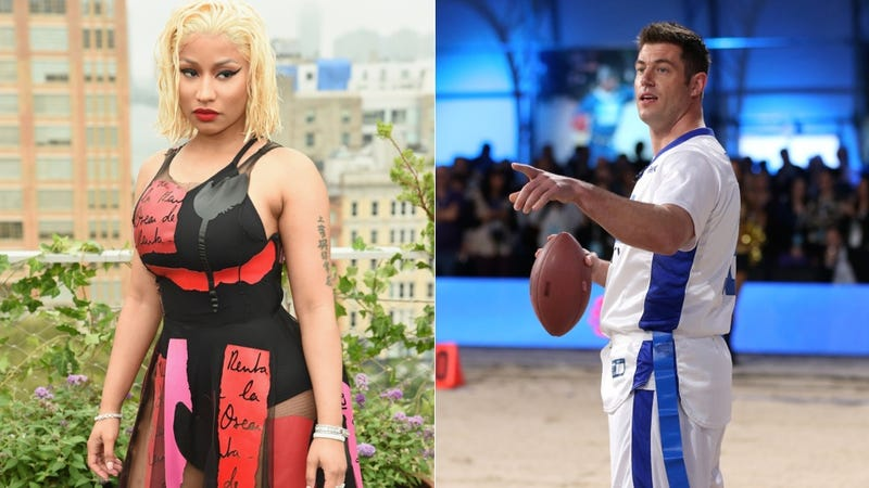 Illustration for article titled Nicki Minaj Has Beef With, Uh, Former Giants QB Jesse Palmer [Update]