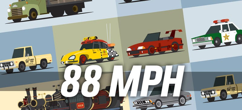 Illustration for article titled Here's That Poster Of 88 Cars From Back To The Future That You Wanted