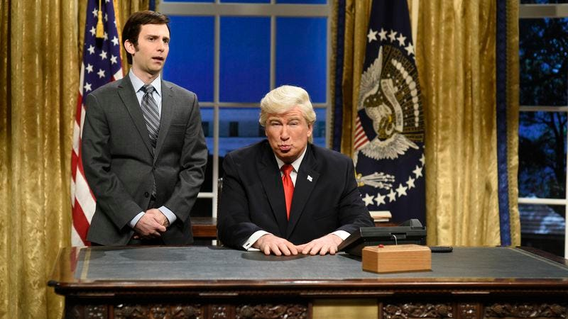 Kyle Mooney and Alec Baldwin (Photo: NBC/Getty Images)