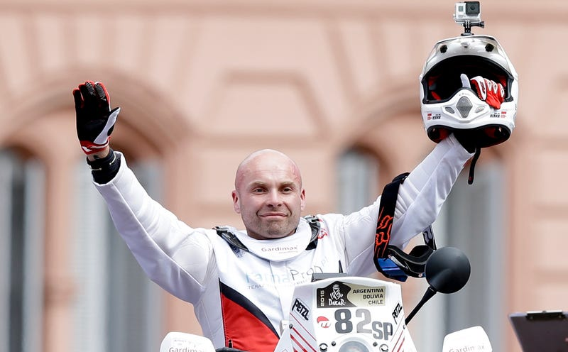 Illustration for article titled Motorcyclist Michal Hernik Dies In Dakar Rally