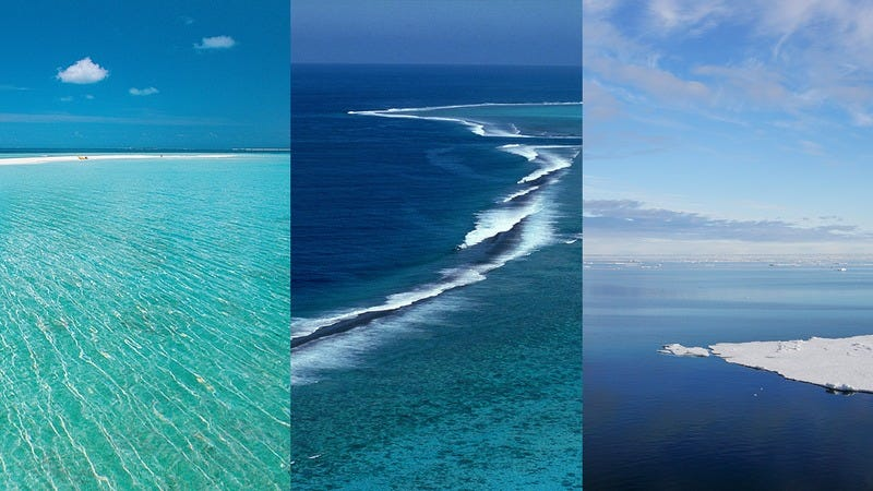 Three oceans that have been on TV.