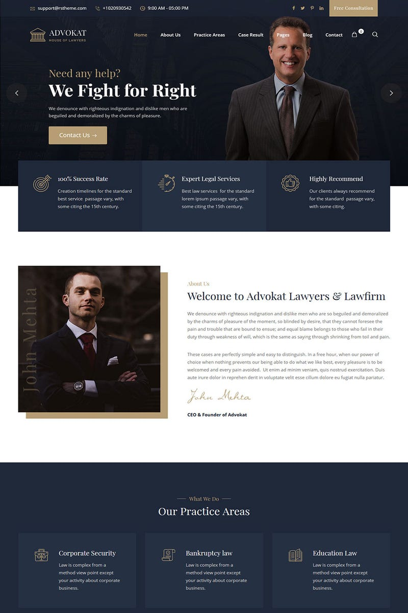 Illustration for article titled Advokat – Lawyer & Lawfirm WordPress Theme