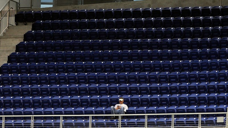 Illustration for article titled Marlins Tickets Are Basically Free, And Still No One's Going