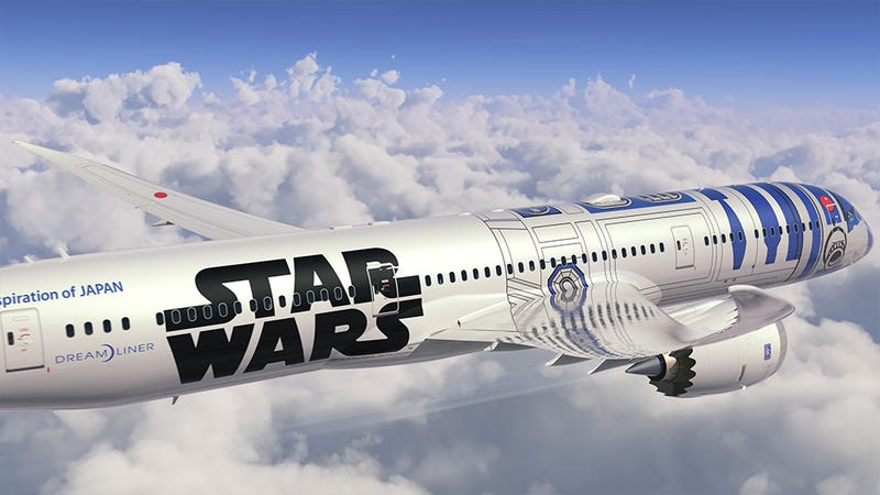 Illustration for article titled A Boeing 787 Dreamliner airplane will be painted to look like R2-D2