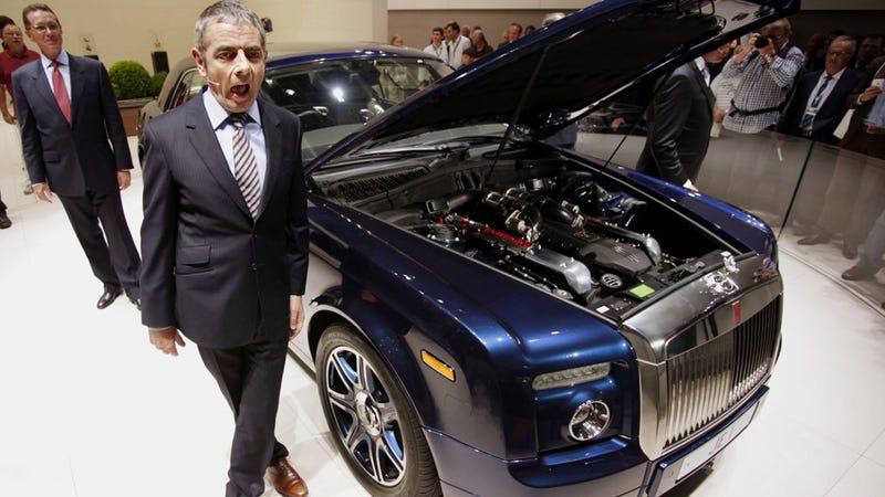 Illustration for article titled Why didn't Mr. Bean start the amazing 9-liter V-16 Rolls-Royce Phantom?