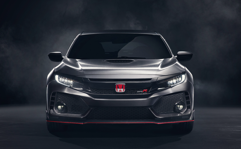 The concept version of the 2018 Honda Civic Type R. Image via Honda