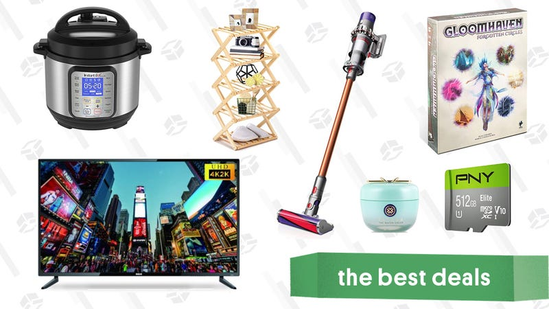 """Illustration for article titled Monday's Best Deals: 55"""" 4K TV, Gloomhaven: Forgotten Circles Expansion, an Instant Pot, and More"""