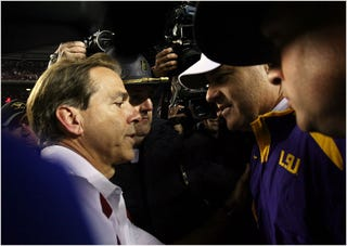 Illustration for article titled How Much Do LSU Fans Hate Nick Saban? The Coonass Bowl Is Upon Us