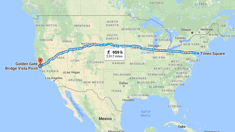 Sweet Google Maps Trick Lets You Measure Distances \'As the Crow Flies\'