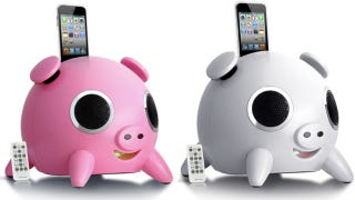 Illustration for article titled Speakal's iHog Is a Pig Shaped Speaker for Pork Lovers