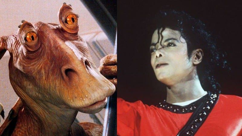 Illustration for article titled Michael Jackson wanted to play Jar Jar in The Phantom Menace