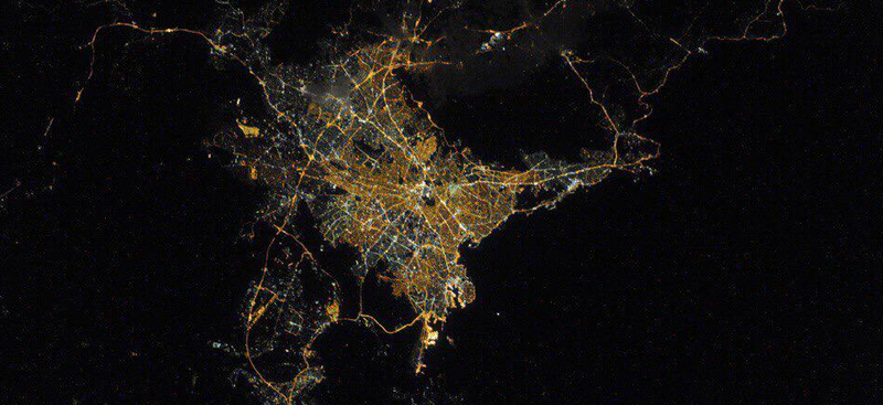 Illustration for article titled Past and Future Collide in This Gorgeous ISS Photo of Athens