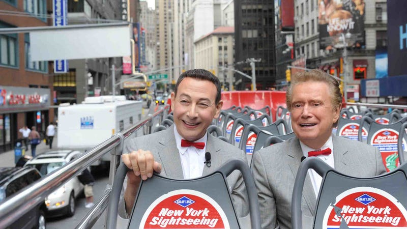 Illustration for article titled Let us take time to remember the great Pee Wee Herman & Regis Philbin crossover event of 2010