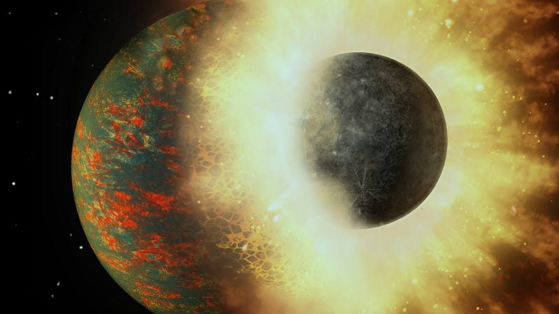 Earth's Collision With Another Planet Probably Started Life