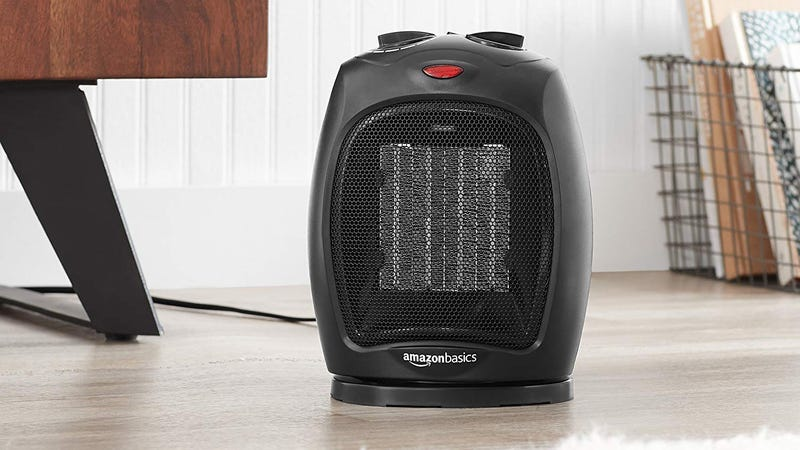 AmazonBasics 1500 Watt Oscillating Space Heater | $30 | Amazon