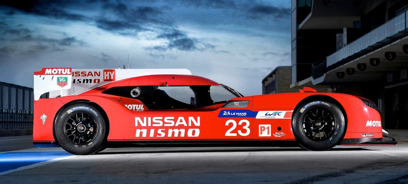 Illustration for article titled The Nissan GT-R LM Nismo Is A Front-Wheel-Drive 1,250-hp Le Mans Racer