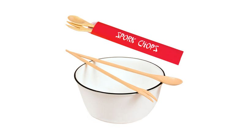 Illustration for article titled Spork Chops Are the Perfect Secret Agent Utensil for Those Who Suck At Using Chopsticks