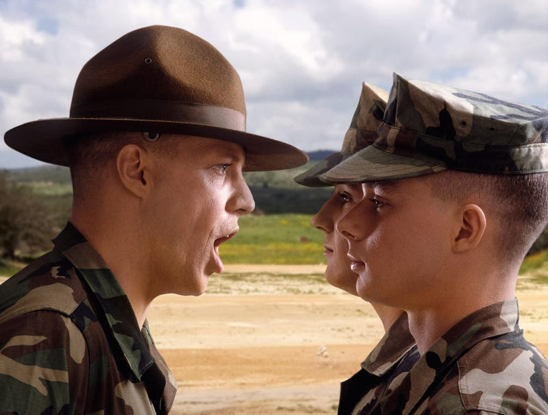 Illustration for article titled Checked-Out Drill Sergeant Just Calling Every Cadet A Chowderhead