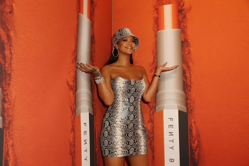 Rihanna attends the Fenty Beauty by Rihanna Anniversary Event at Overseas Passenger Terminal on Oct. 3, 2018 in Sydney, Australia.