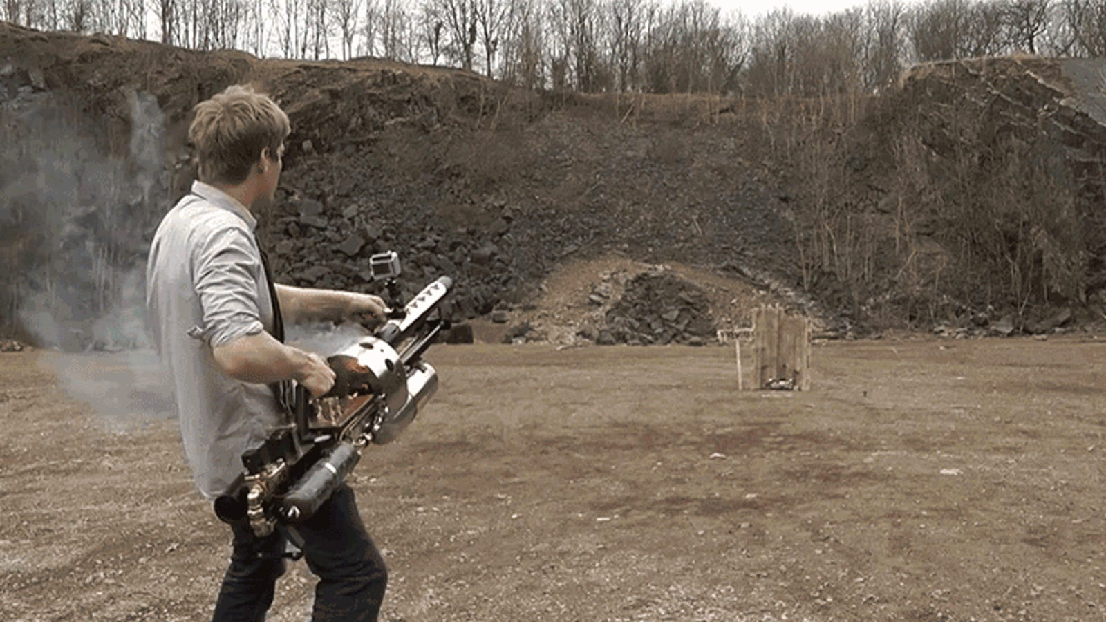 A Wannabe Supervillain Built His Own Thermite Cannon