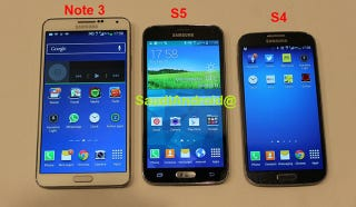 Illustration for article titled These Are Supposedly Leaked Photos of the Samsung Galaxy S5