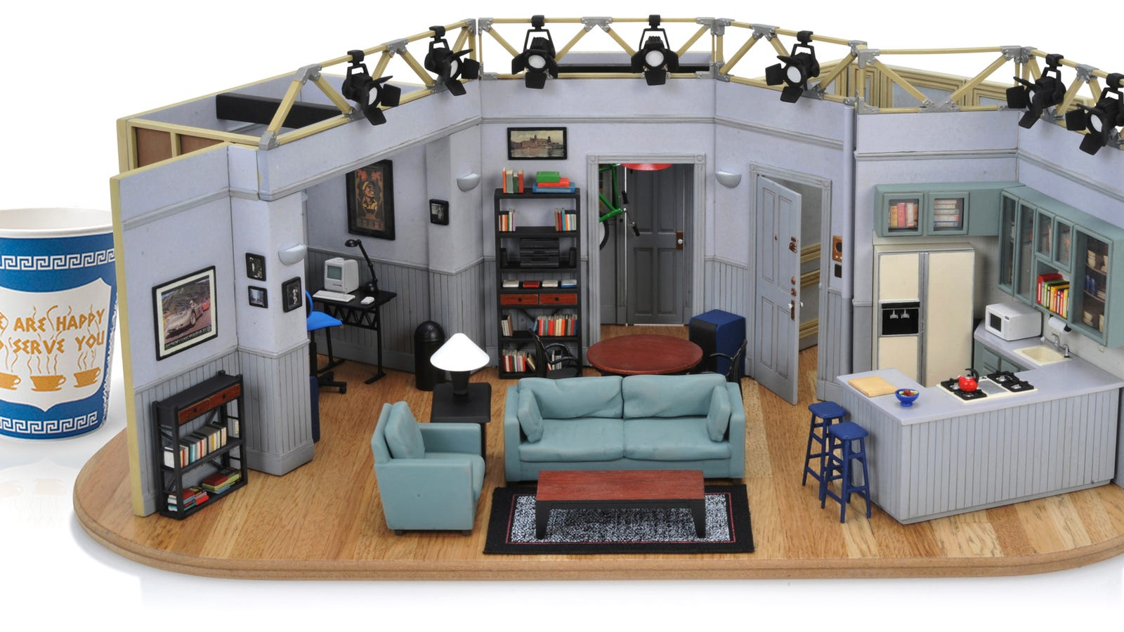 for 400 you can own a flawlessly detailed tiny replica of seinfeld 39 s apartment. Black Bedroom Furniture Sets. Home Design Ideas