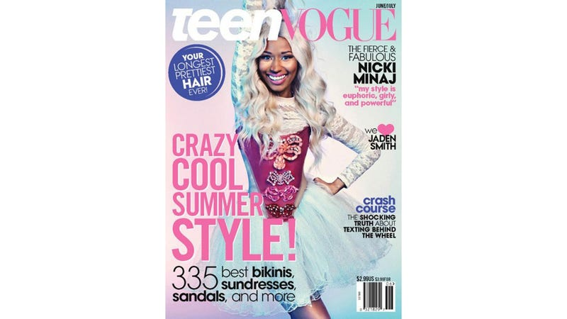 Illustration for article titled Nicki Minaj Is So Excited to Be on Teen Vogue's Cover Her Face Hurts