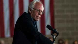 Democratic presidential candidate Sen. Bernie Sanders (D-Vt.) speaks to a crowd of supporters at the Mayo Civic Center on Feb. 27, 2016, in Rochester, Minn.Stephen Maturen/Getty Images