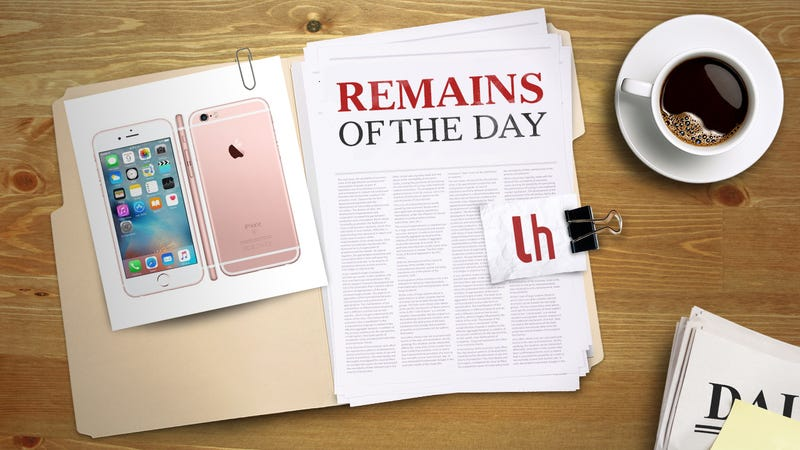 Illustration for article titled Remains of the Day: Apple Addresses iPhone 6 Plus 'Touch Disease' With New Repair Program