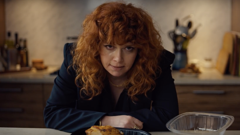Natasha Lyonne as Russian Doll's Nadia.